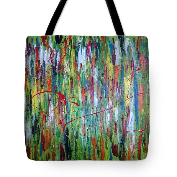 Breaking Through The Rainbow Of Pain Tote Bag by The GYPSY And DEBBIE