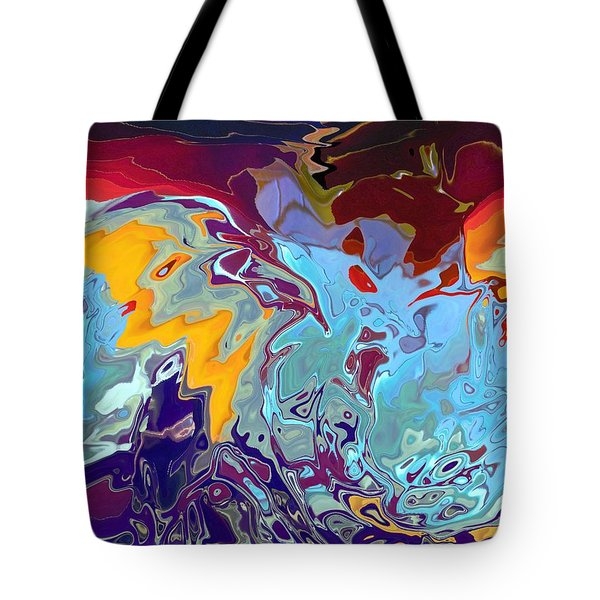 Breaking Waves Tote Bag by Alika Kumar