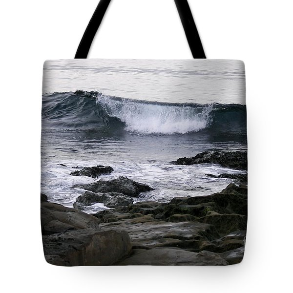 Tote Bag featuring the photograph Breaking Waves by Carol  Bradley