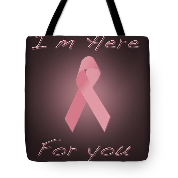 Breast Cancer Tote Bag by Jim  Hatch