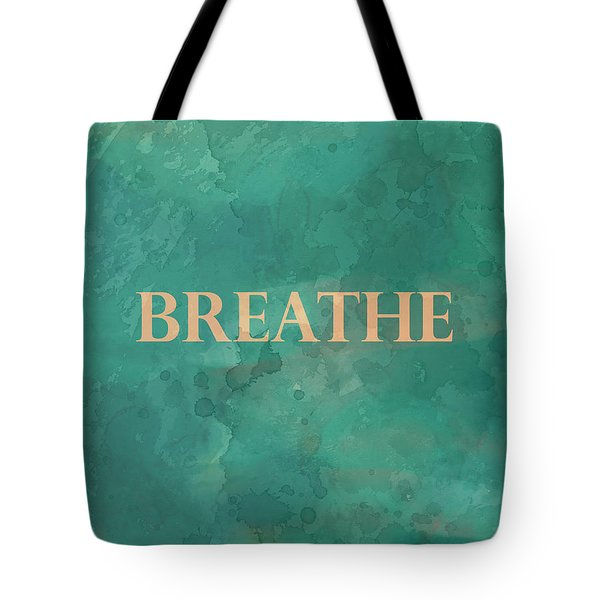 Tote Bag featuring the digital art Breathe by Ann Powell