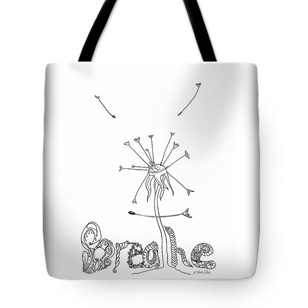 Tote Bag featuring the drawing Breathe by D Renee Wilson