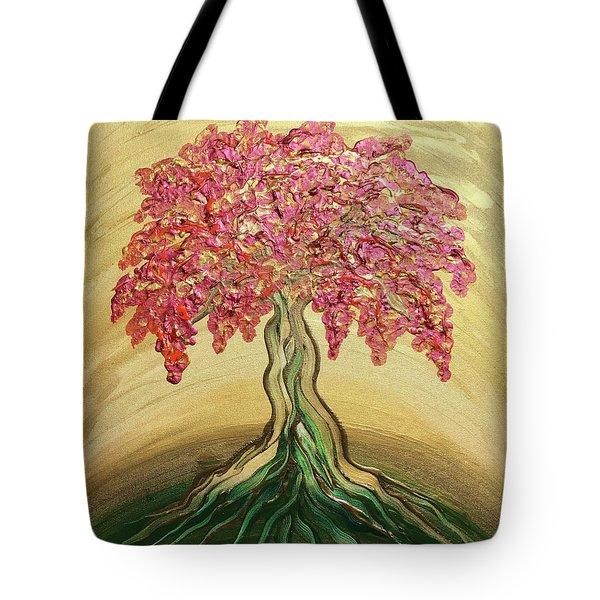 Breathe Golden Peace Tote Bag