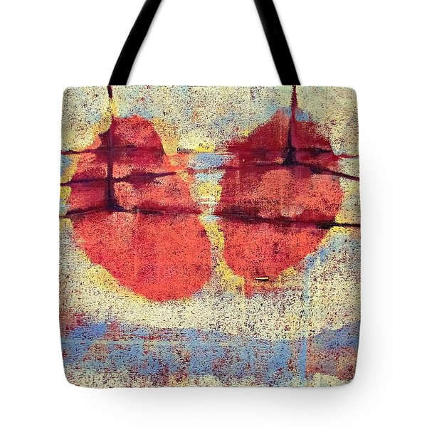 Tote Bag featuring the painting Breathe by Maria Huntley
