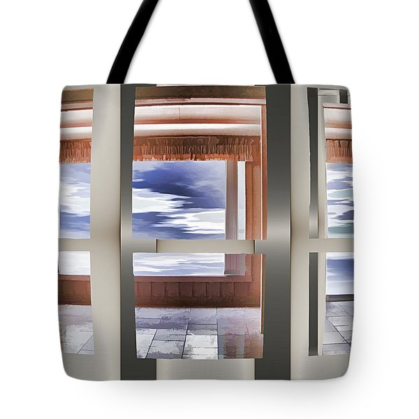 Breathing Space - Silver, Optimized For Metallic Paper Tote Bag