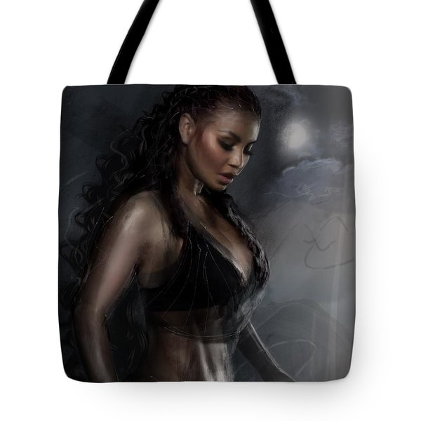 Tote Bag featuring the digital art Breathless Energy by Dedric Artlove W