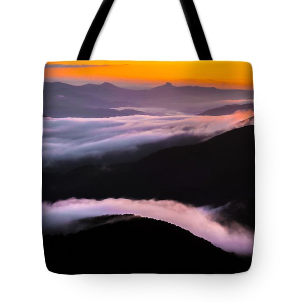 Tote Bag featuring the photograph Breatthtaking Blue Ridge Sunrise by Serge Skiba