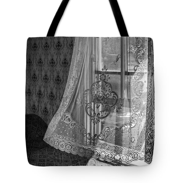Breeze - Black And White Tote Bag by Nikolyn McDonald