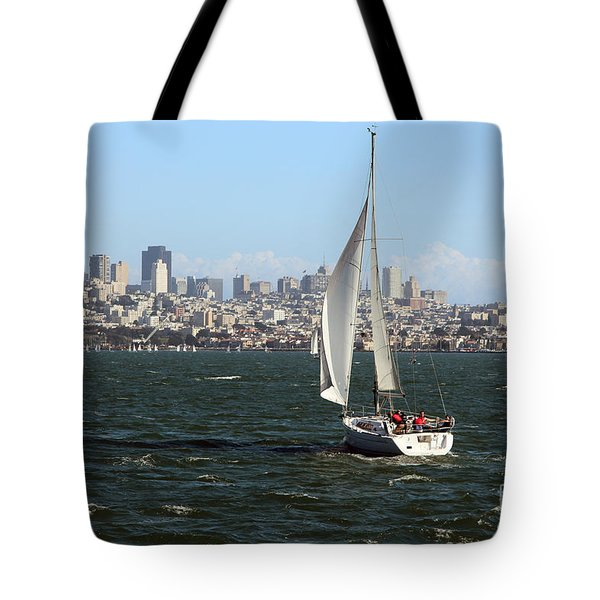 Breezing Up In The Bay Tote Bag