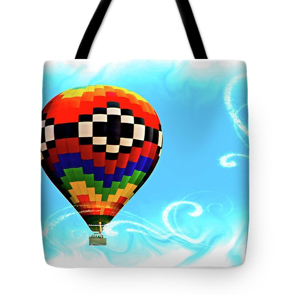 Tote Bag featuring the digital art Breezy by Gary Baird