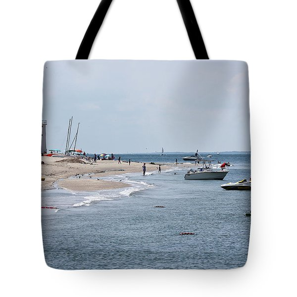 Breezy Point Lighthouse Tote Bag