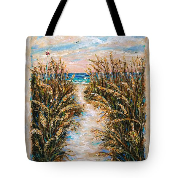 Tote Bag featuring the painting Breezy Sea Oats by Linda Olsen