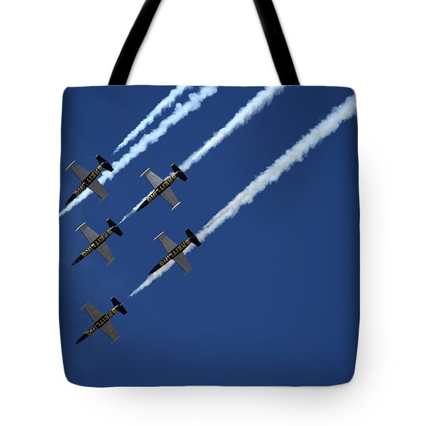 Breitling Team Crowd Pleases At Reno Air Races Tote Bag