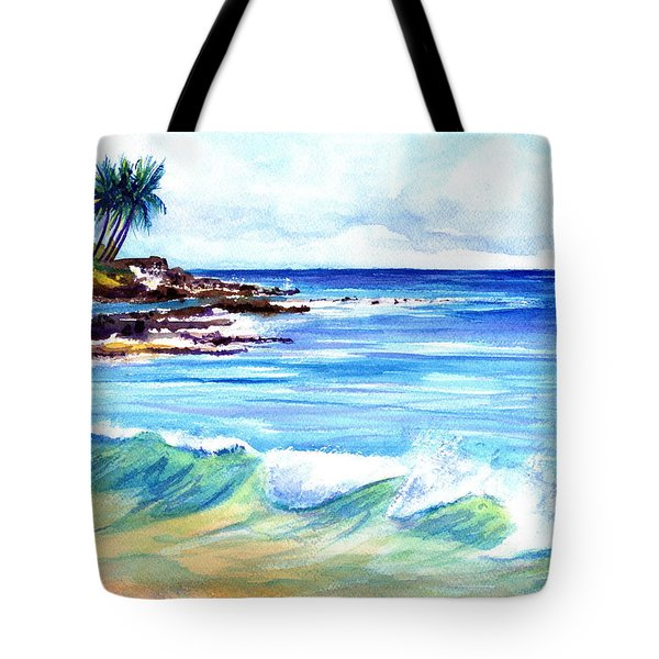 Tote Bag featuring the painting Brennecke's Beach by Marionette Taboniar