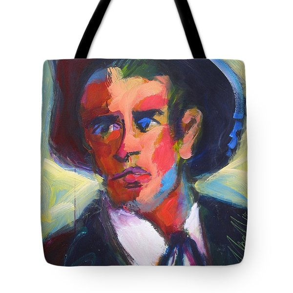 Tote Bag featuring the painting Bret Maverick by Les Leffingwell