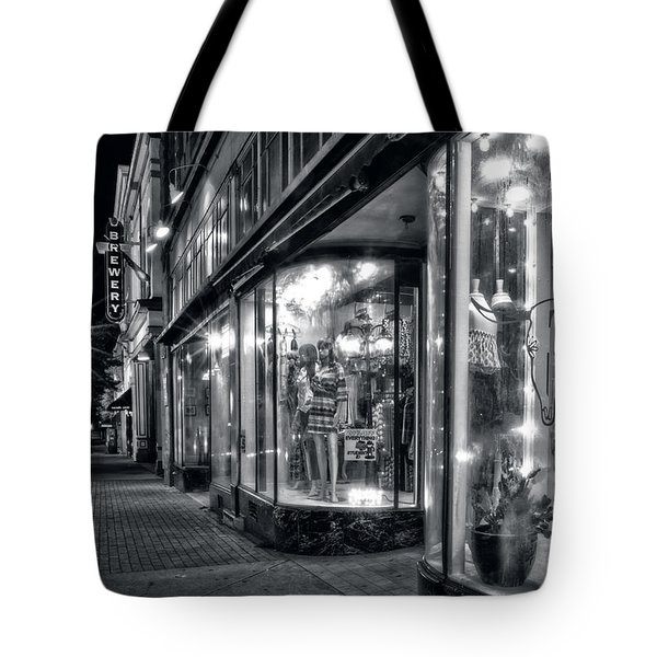 Brewery And Boutique In Black And White Tote Bag