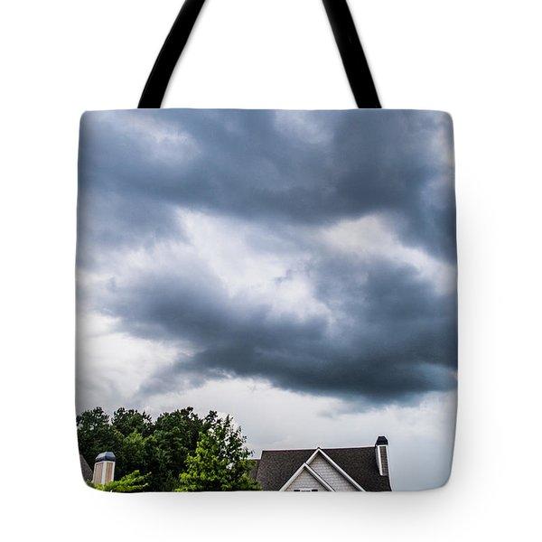 Brewing Clouds Tote Bag