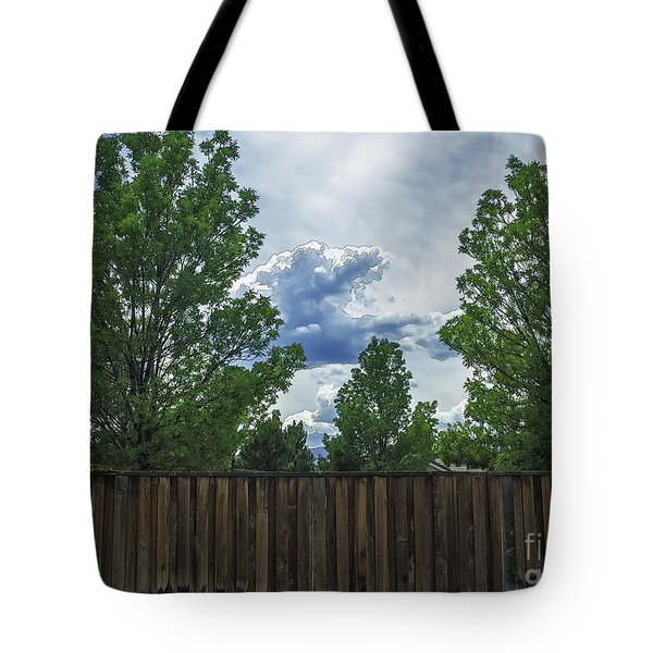 Brewing Storm Tote Bag by Nancy Marie Ricketts