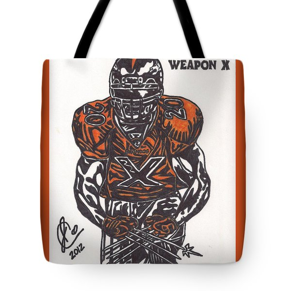 Brian Dawkins Tote Bag by Jeremiah Colley