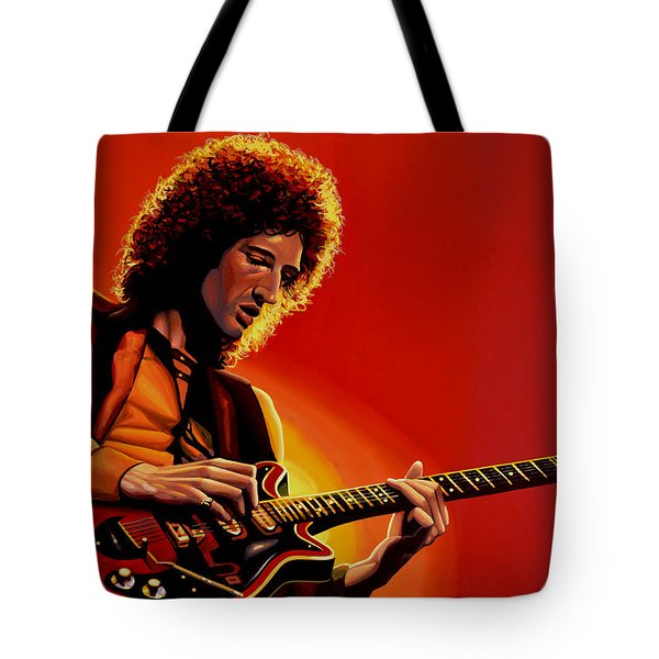 Brian May Of Queen Painting Tote Bag