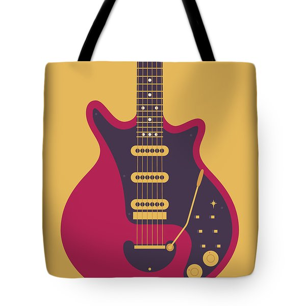 Red Special Guitar - Gold Tote Bag