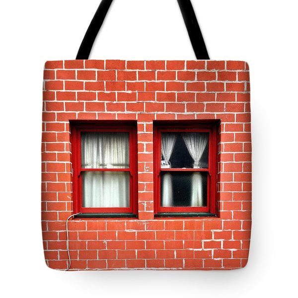 Brick And Windows Tote Bag by Julie Gebhardt