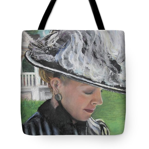 Tote Bag featuring the pastel Brick City Days by Robin Maria Pedrero