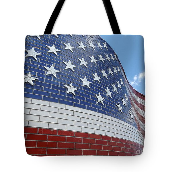 Brick Flag Tote Bag by Erick Schmidt