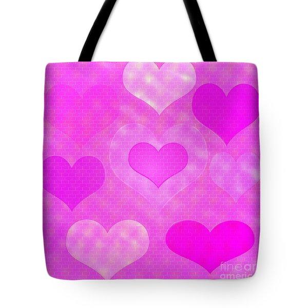 Brick Hearts Tote Bag