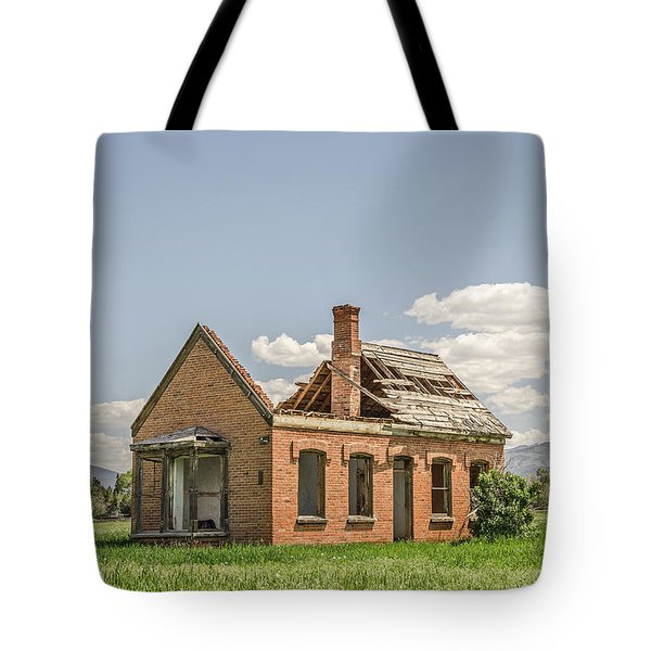 Tote Bag featuring the photograph Brick Home In June 2017 by Sue Smith