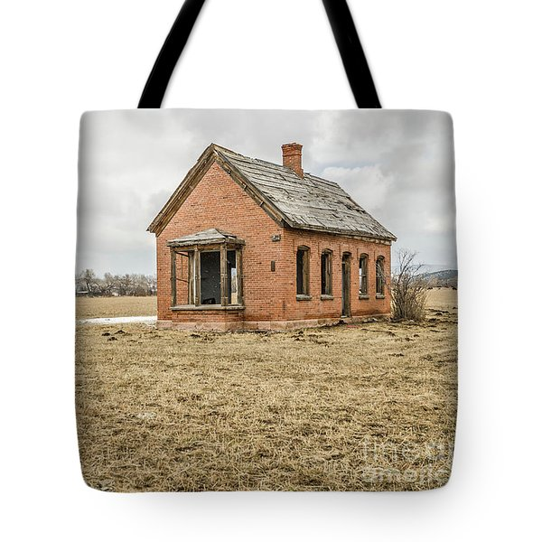 Tote Bag featuring the photograph Brick Home In November 2015 by Sue Smith