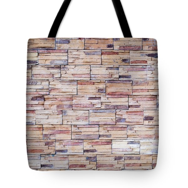 Tote Bag featuring the photograph Brick Tiled Wall by John Williams