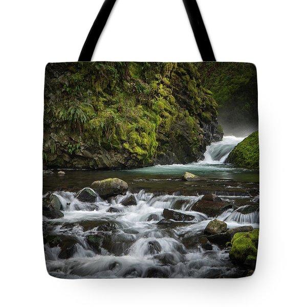 Bridal Veil Creek Tote Bag by Joe Hudspeth