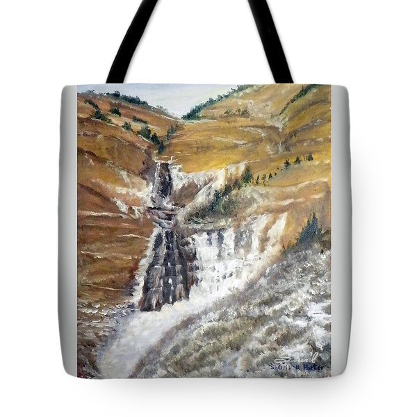 Bridal Veil Falls In Winter Tote Bag
