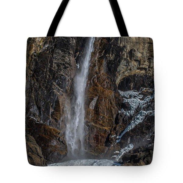 Bridal Veil Falls On Ice Tote Bag