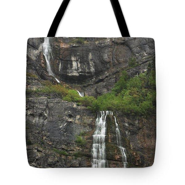 Bridal Veil Falls Provo Canyon Utah Fine Art Photograph Tote Bag