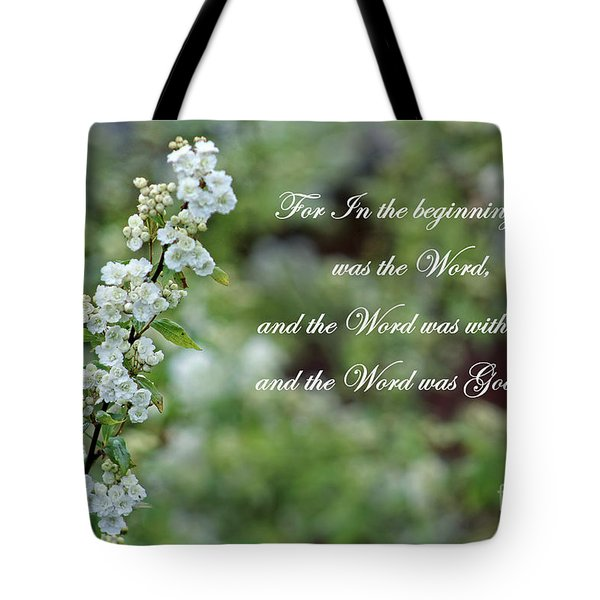Bridal Wreath Christian Art Tote Bag