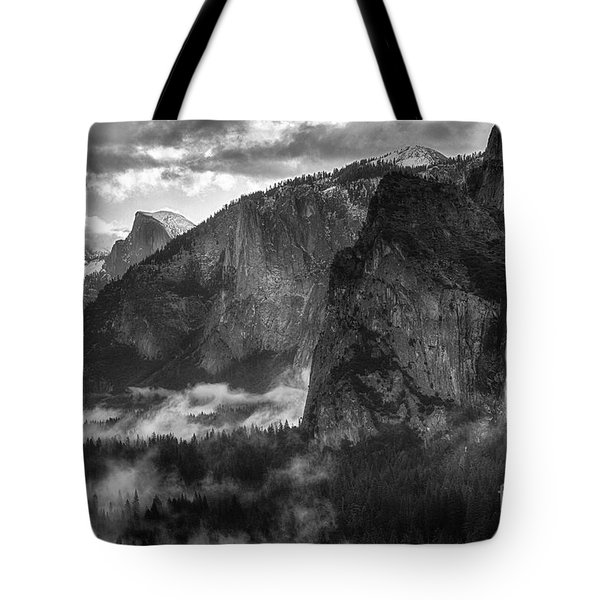 Bridalvail Falls And Half Dome Tote Bag