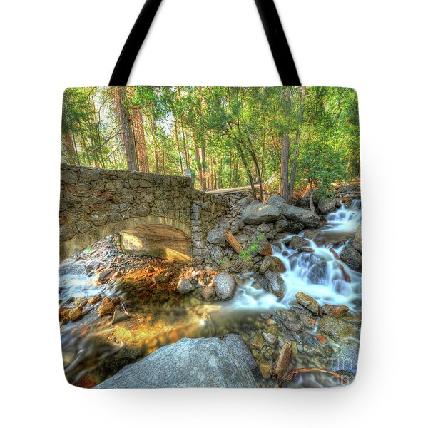 Bridalveil Creek At Yosemite By Michael Tidwell Tote Bag