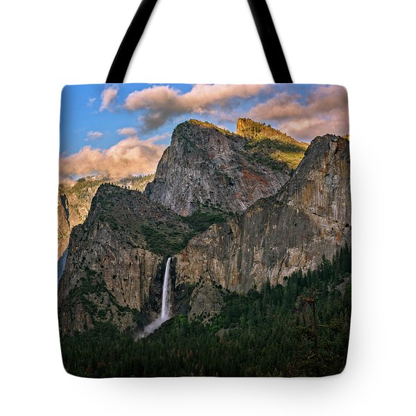 Tote Bag featuring the photograph Bridalveil Falls From Tunnel View by John Hight