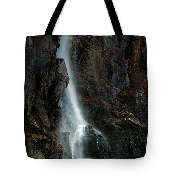 Tote Bag featuring the photograph Bridalveil Falls In Autumn by Bill Gallagher