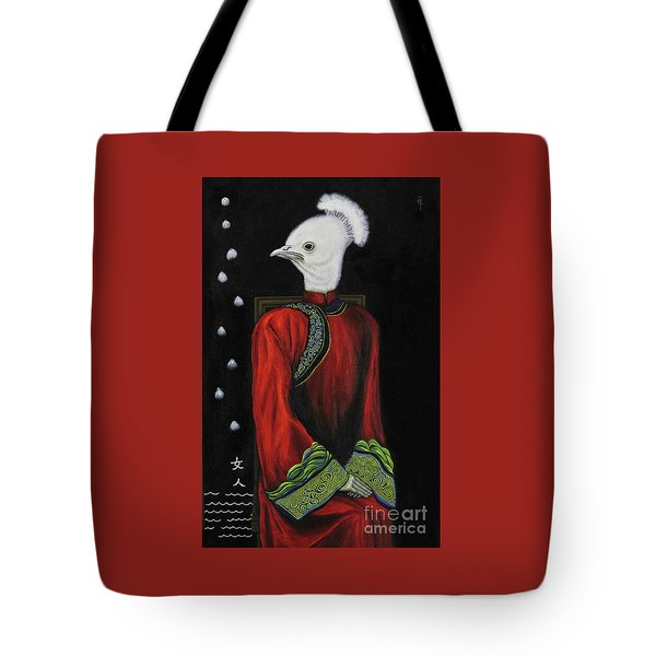 Bride On The Left Tote Bag