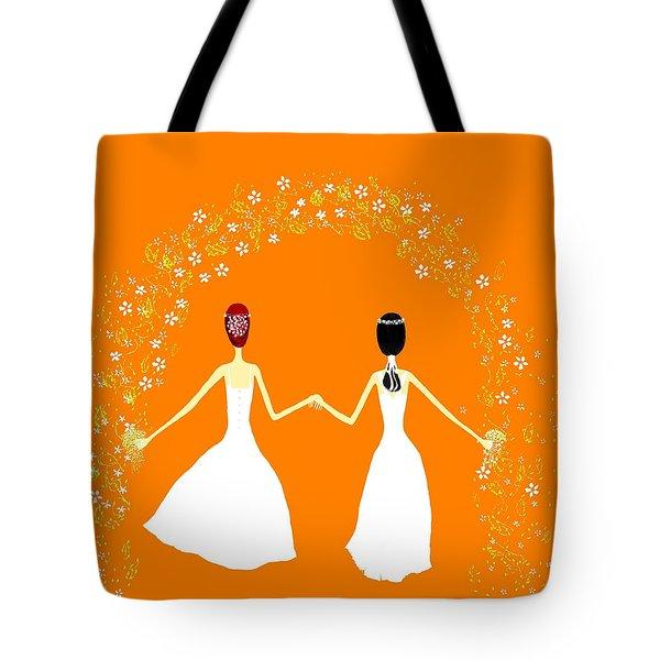 Brides Tote Bag by Barbara Moignard