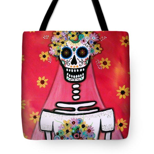 Bridezilla Dia De Los Muertos Tote Bag by Pristine Cartera Turkus