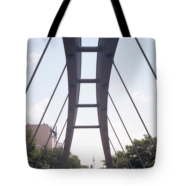 Bridge And Alexanderplatz Tower Tote Bag