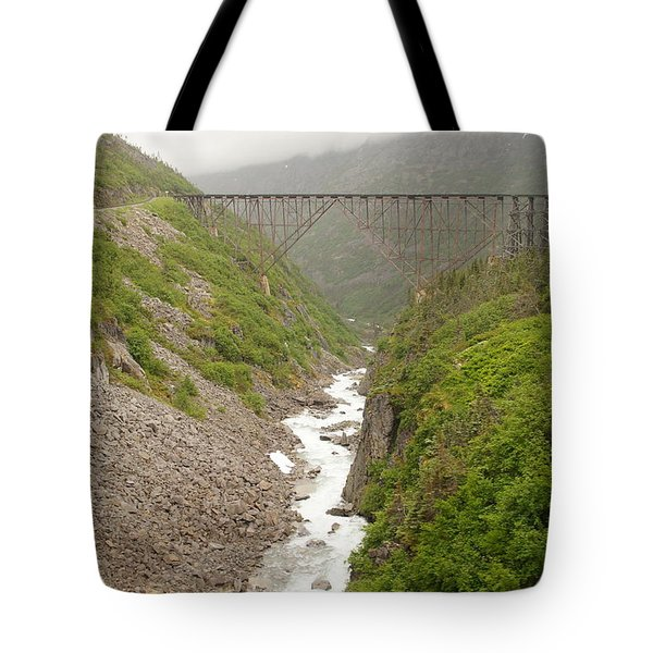 Bridge And Rapids Tote Bag