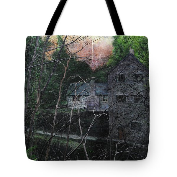 Bridge At Bontuchel Tote Bag by Harry Robertson