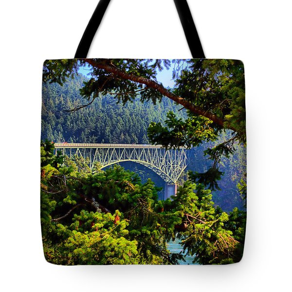 Bridge At Deception Pass Tote Bag