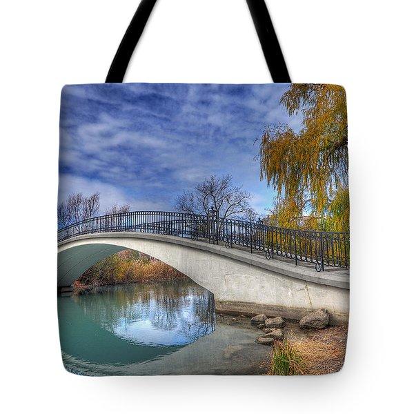 Bridge At Elizabeth Park Tote Bag