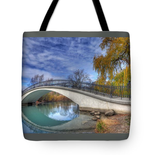 Bridge At Elizabeth Park Tote Bag